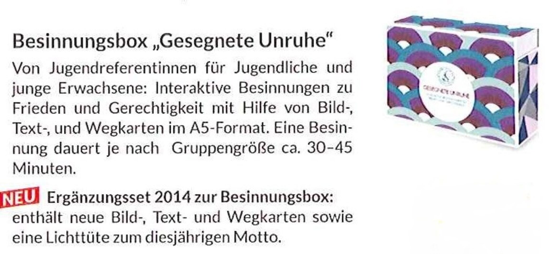 Besinnungsbox Flyer