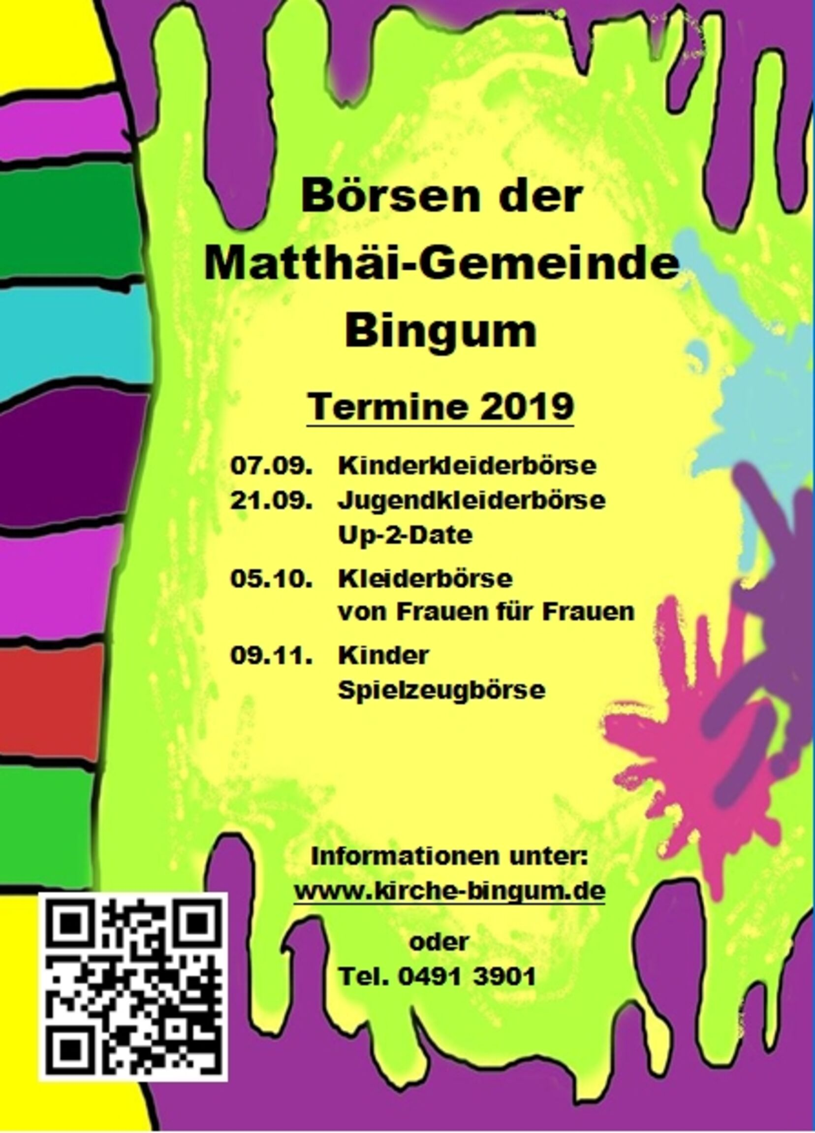 Börsentermine Kleiderbörsen Bingum - Herbst 2019