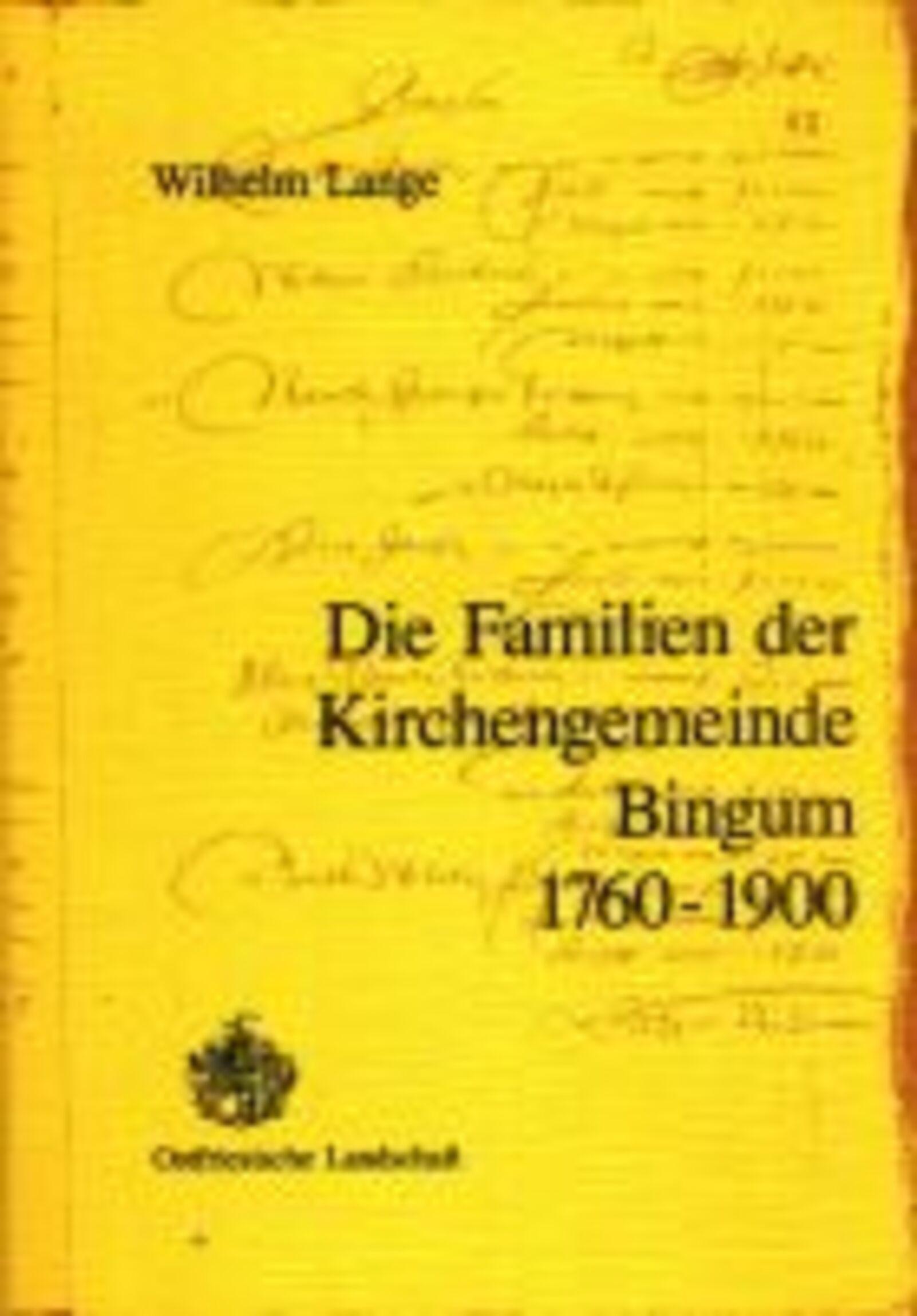 Ortssippenbuch Bingum