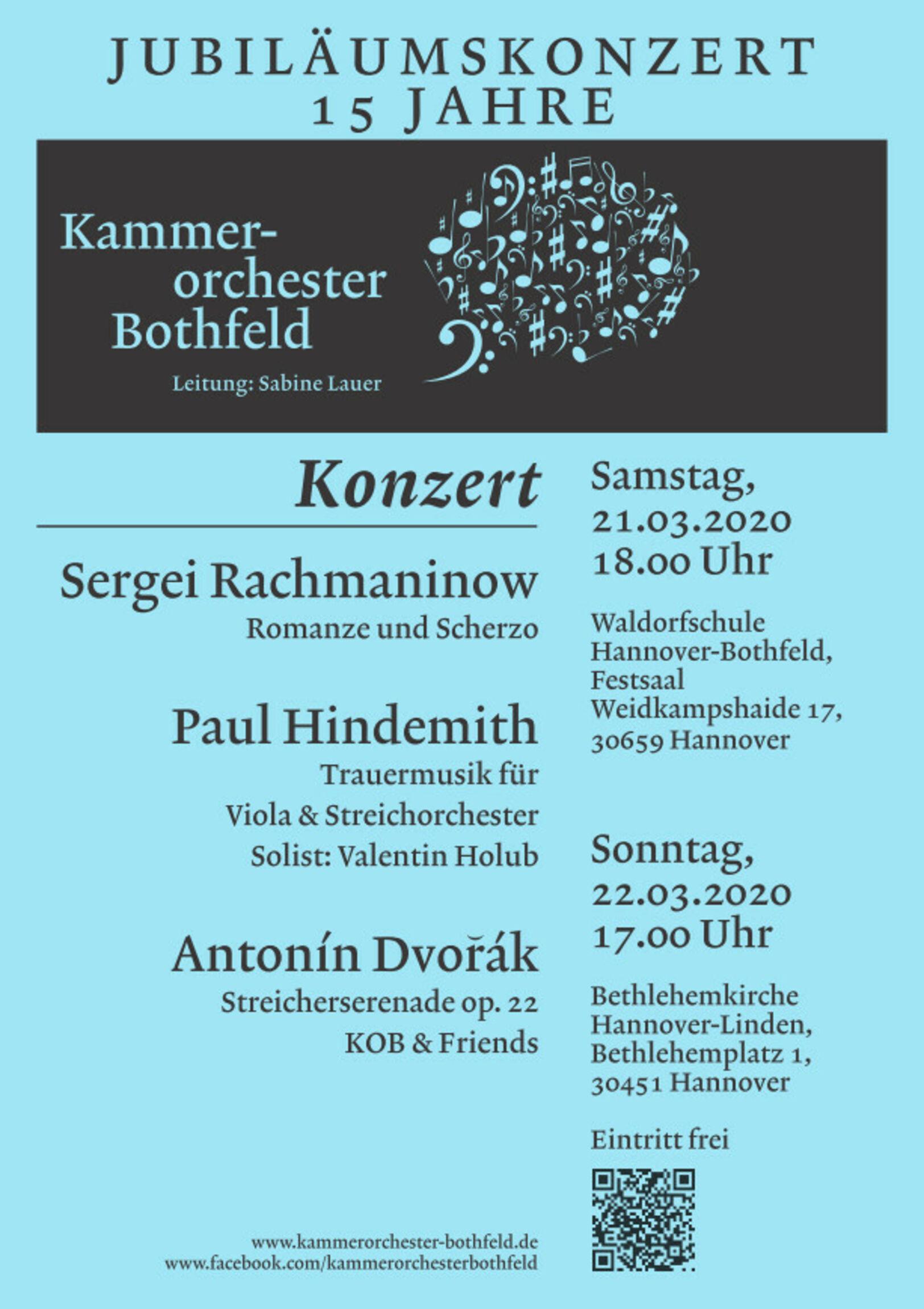 Jubiläumskonzert 22.03.2020 Bethlehemkirche