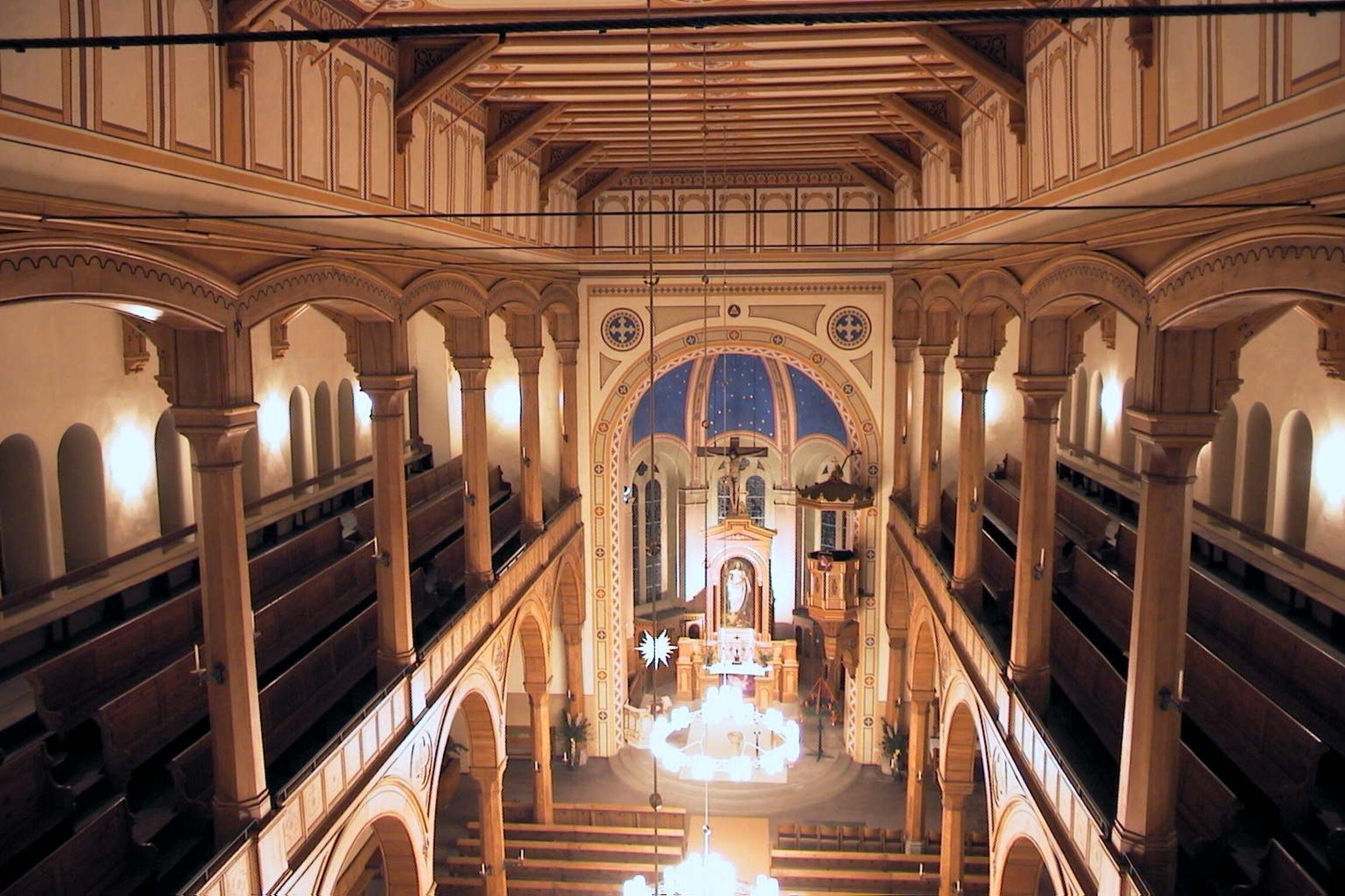 Blick vom Orgel