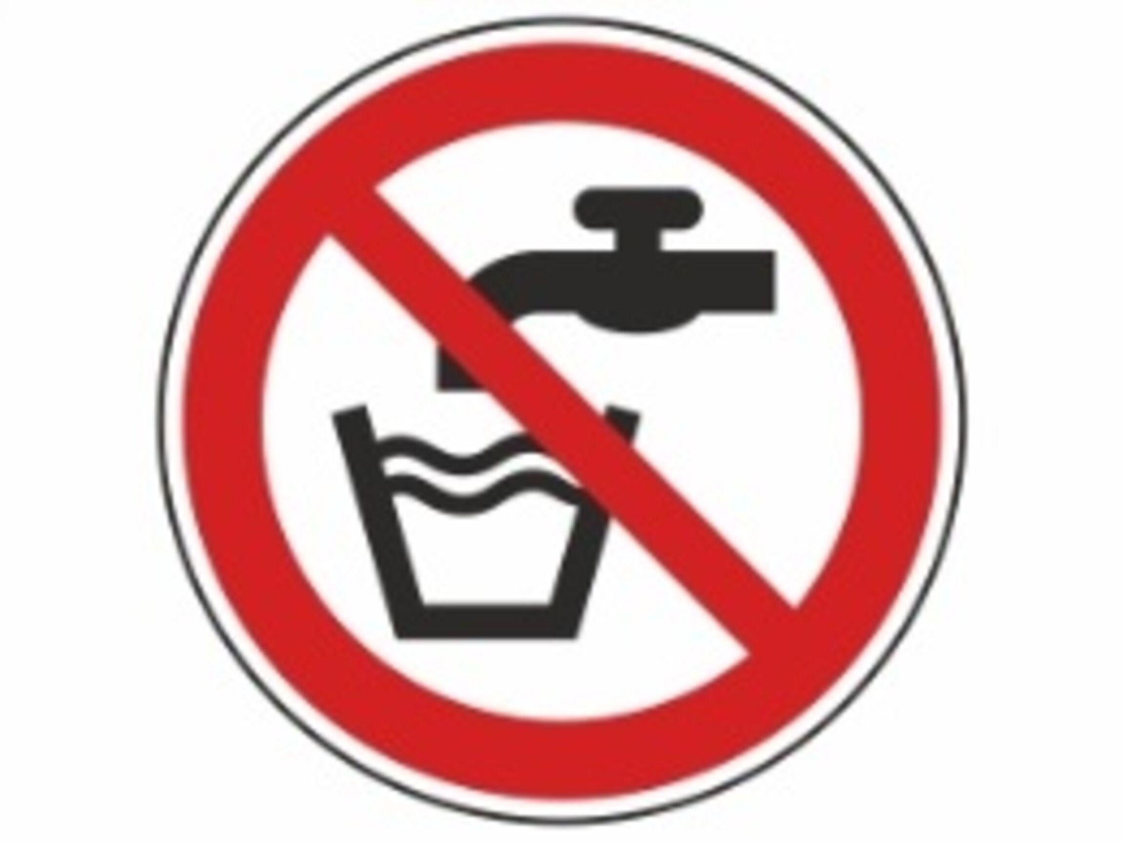 """Verbotsschild """"Kein Trinkwasser"""""""