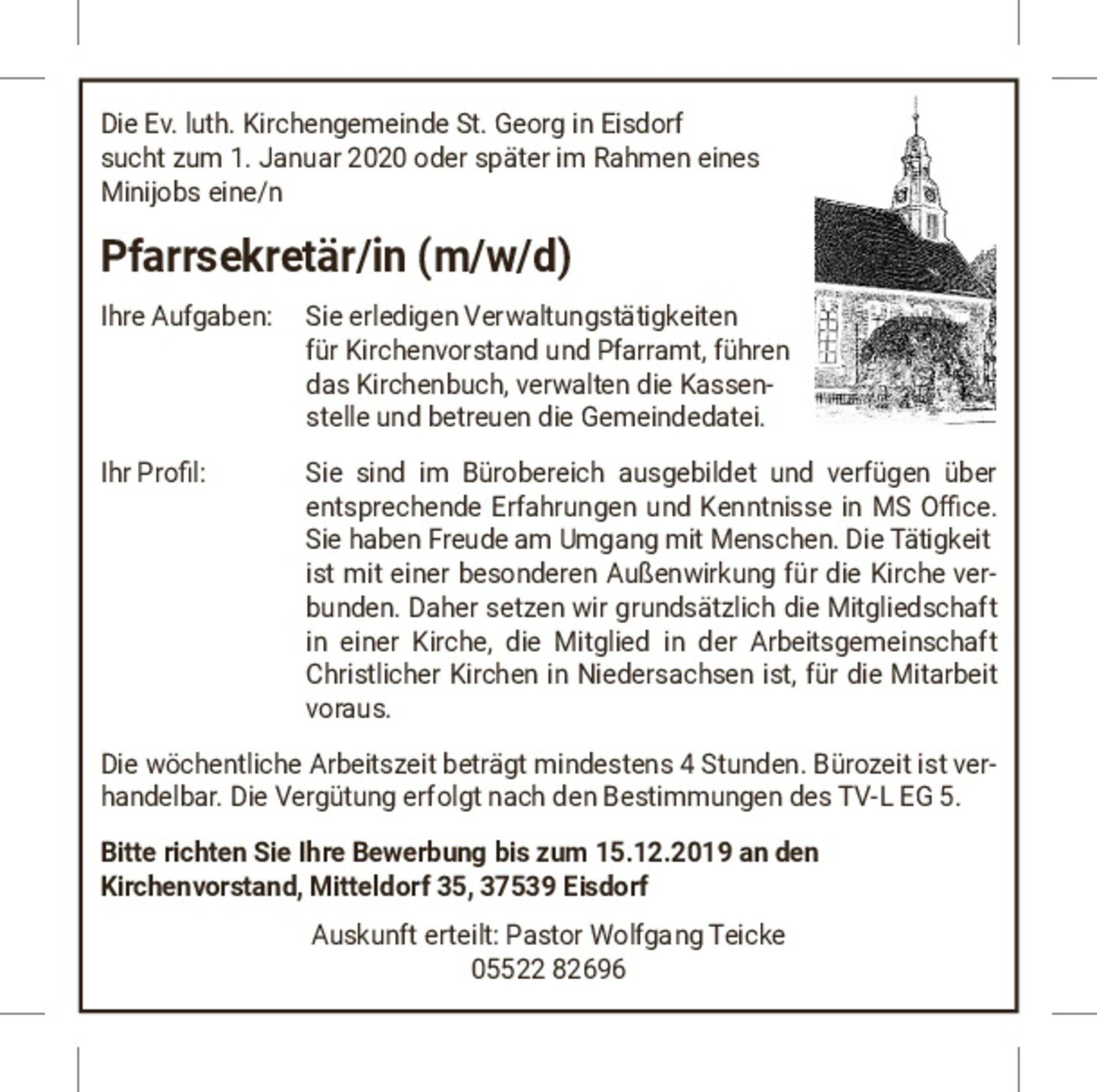 2019-10-12-ausschreibung-Pfarrsekretaerin