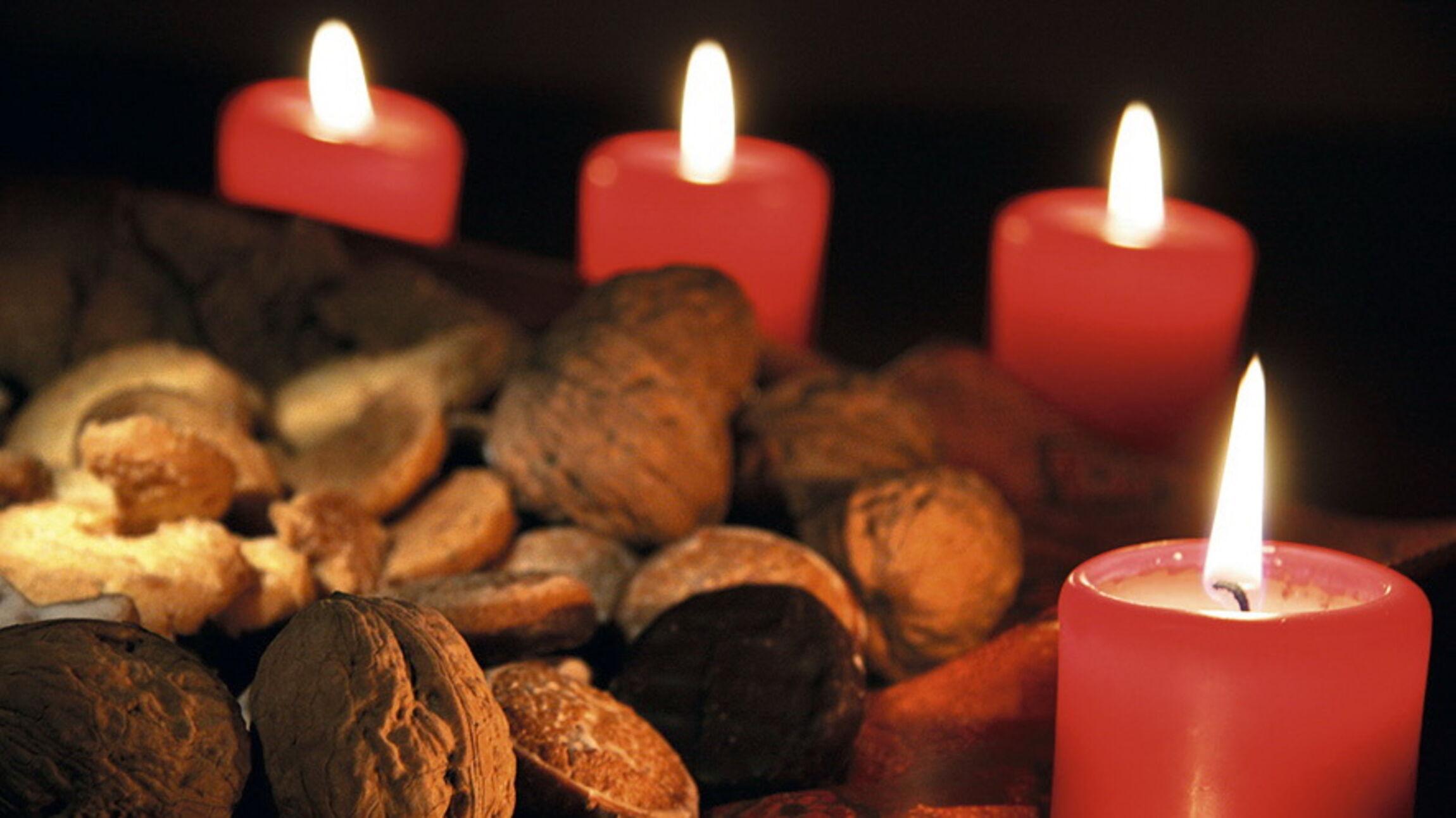 Adventskranz mit 4 Kerzen