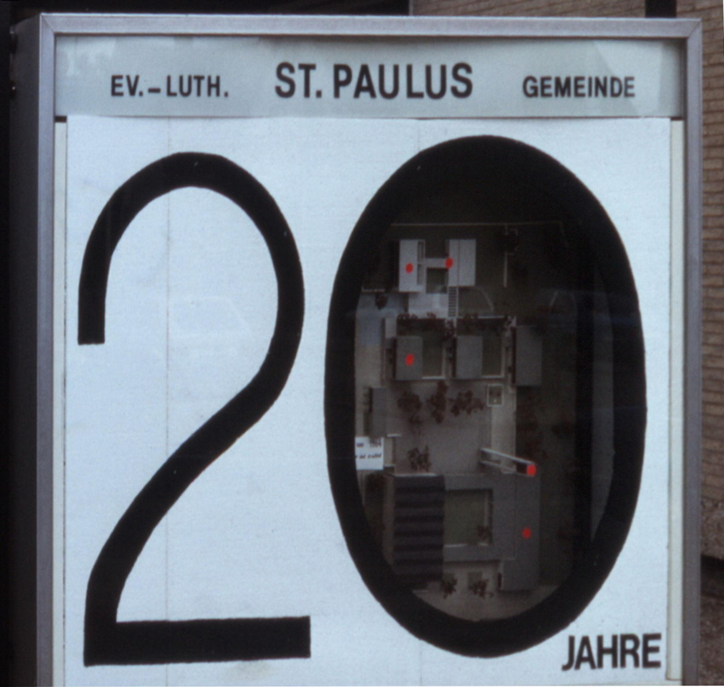 20 Jahre St. Paulusgemeine - Schaukasten