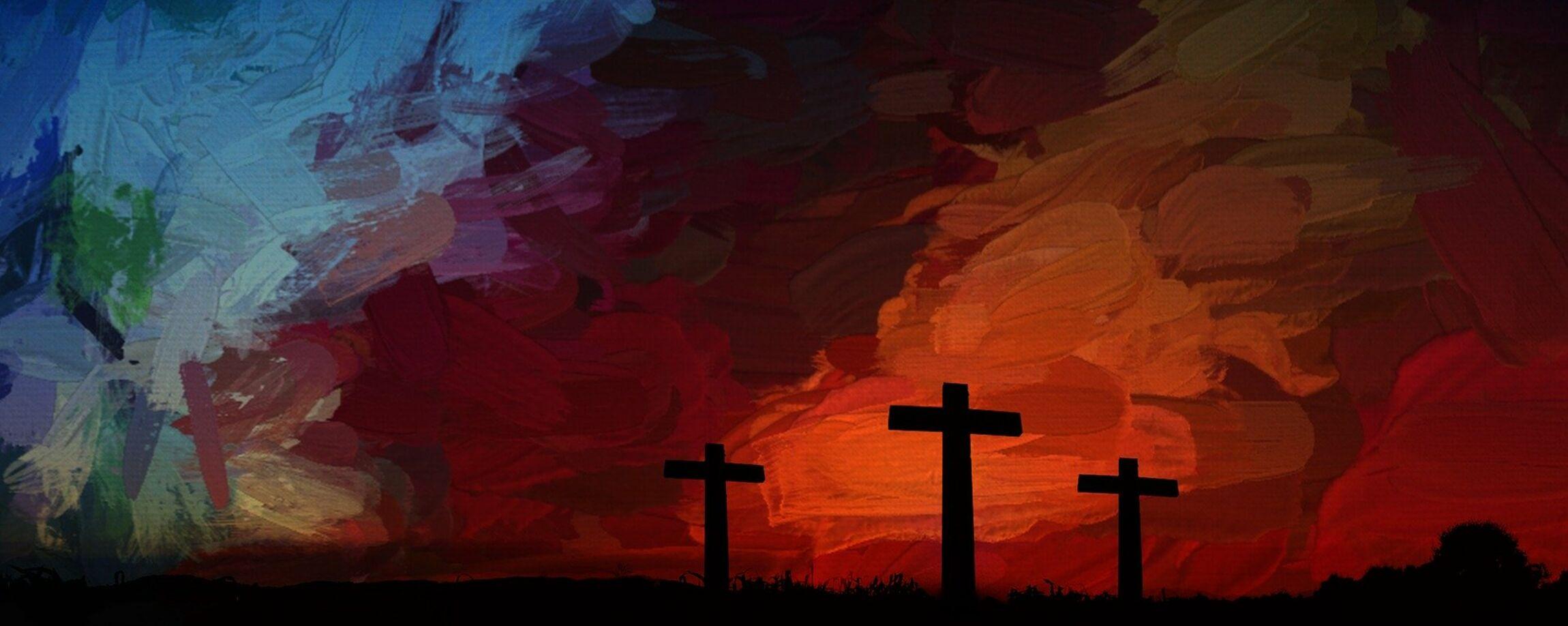 Kreuzigung -gemalt