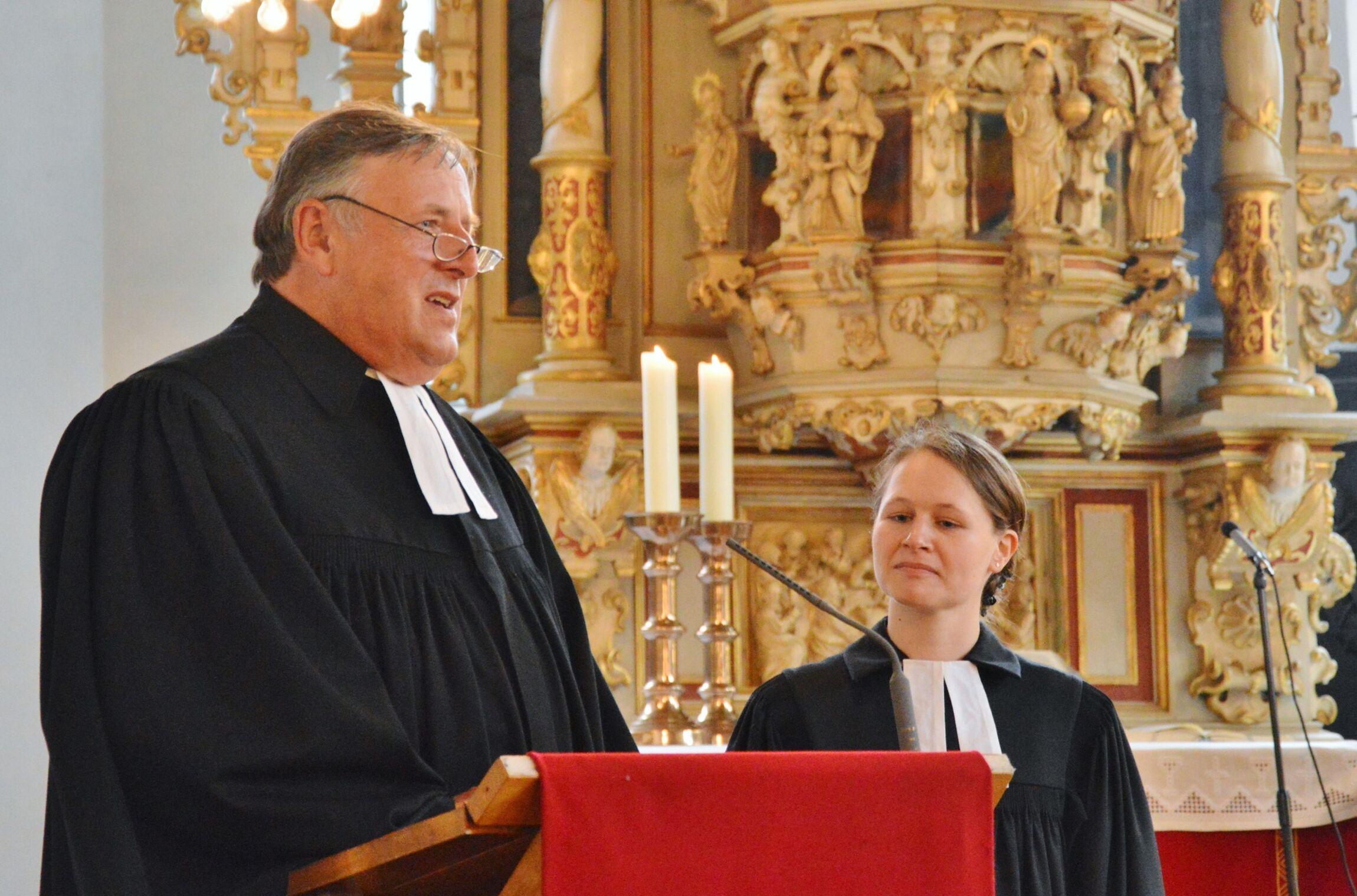 Im Interview stellte Superintendent Volkmar Keil Pastorin Dr. Heidrun Gunkel vor