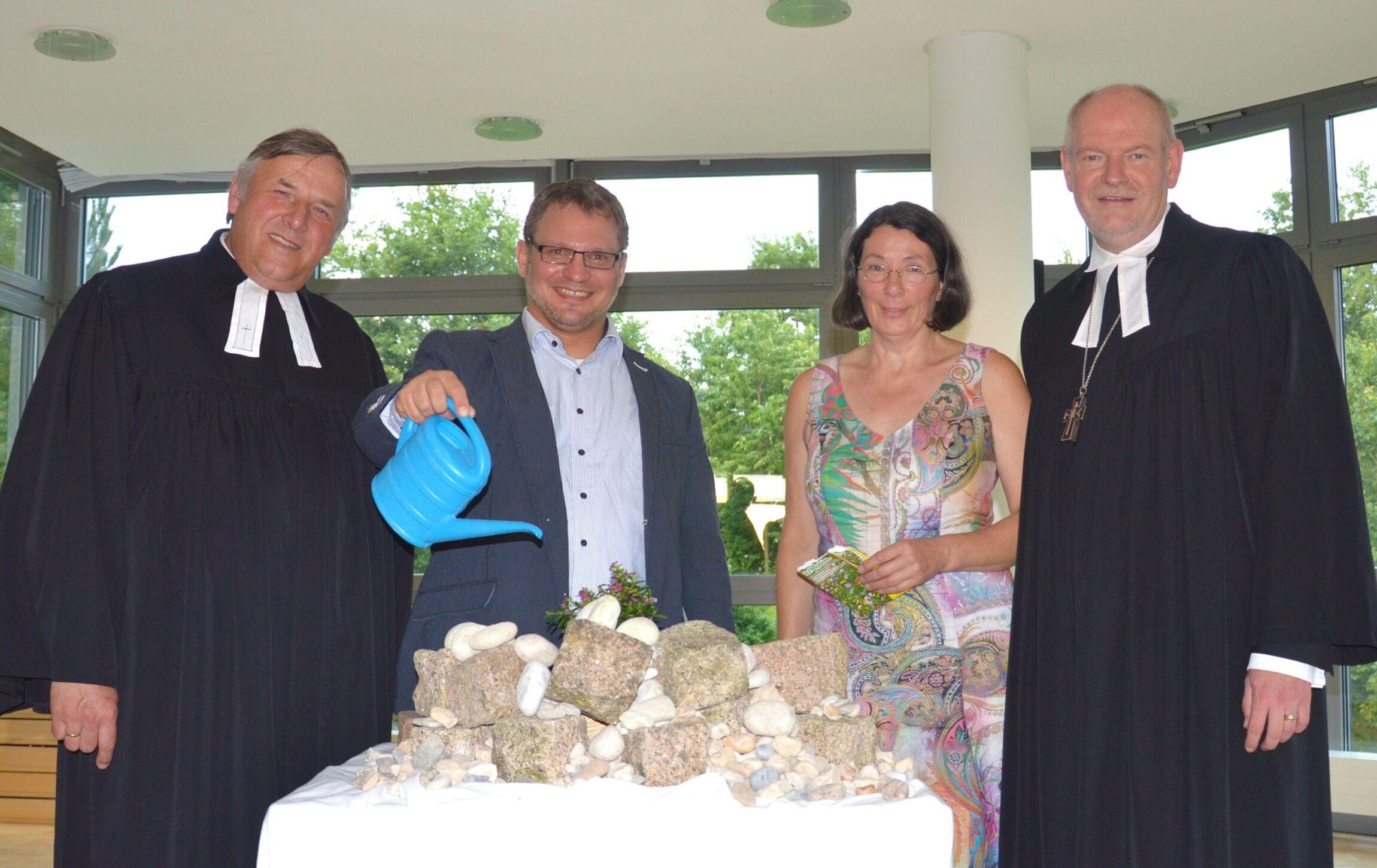 Superintendent Volkmar Keil, André Dittmann, Doris Iß