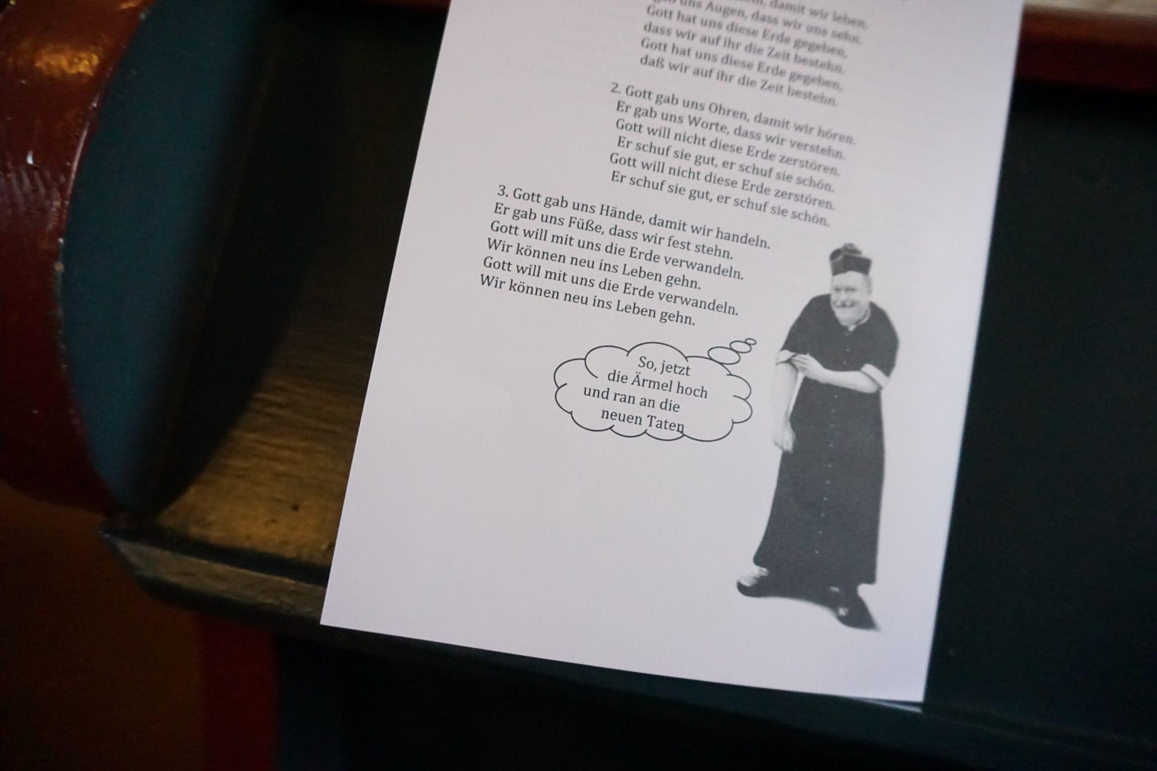 Die Don Camillo-Karikatur von Pastor Andreas Schmidt.