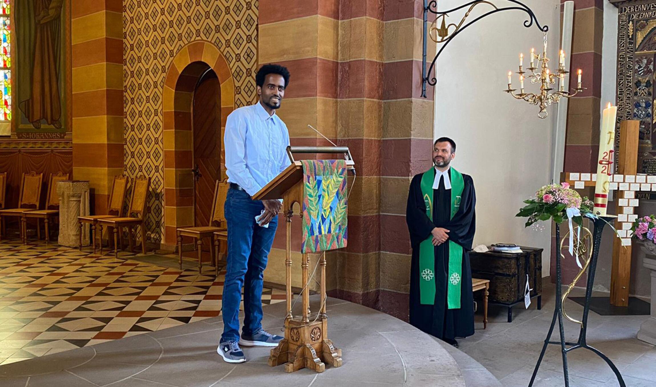 Jonas Dingede in der Lutherkirche Holzminden