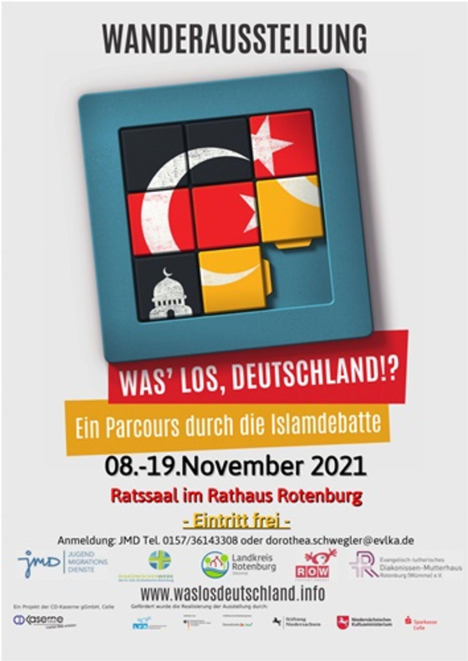 plakat wanderausstellung islamdebatte