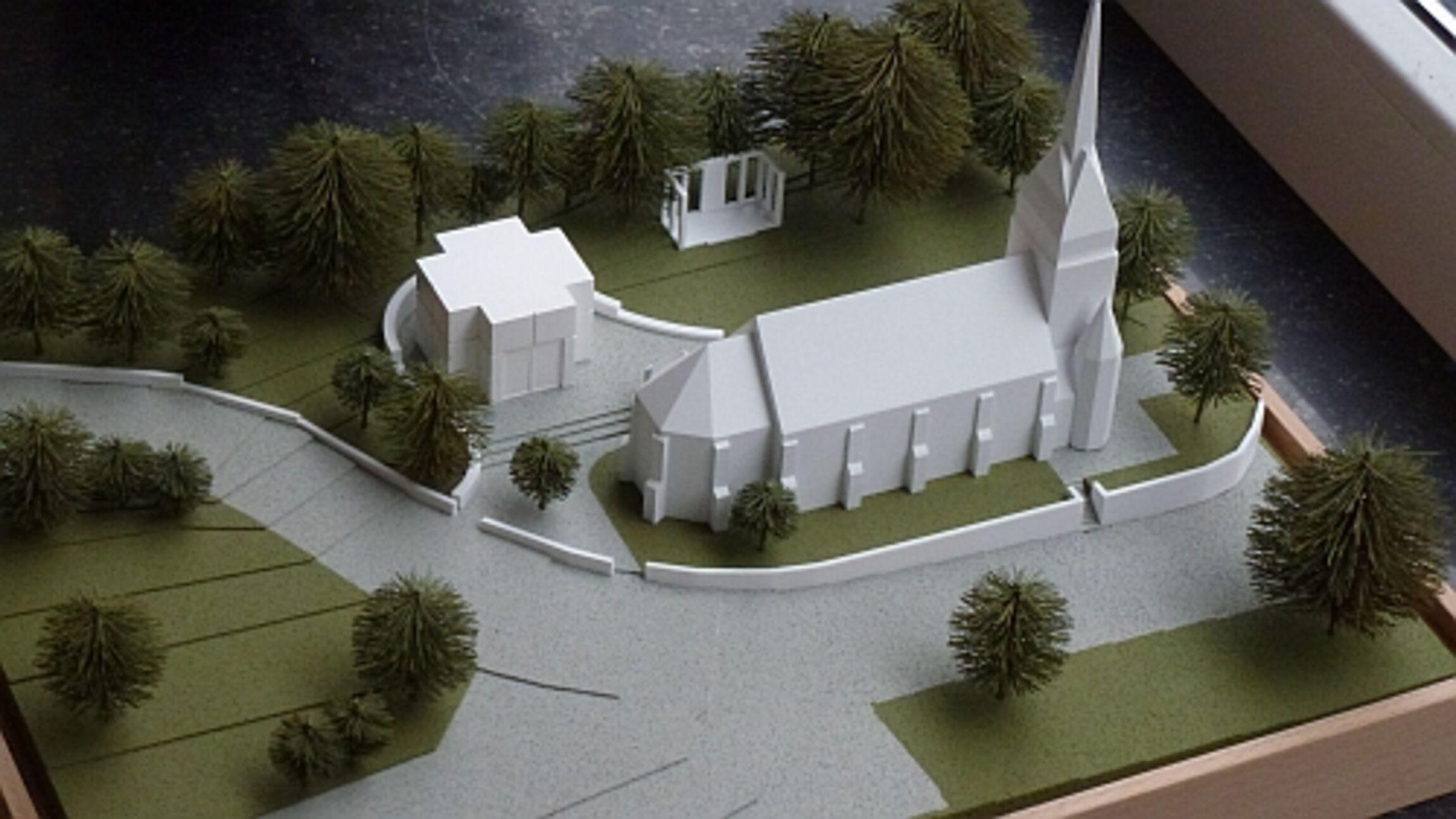 Modell des Kolumbariums St. Ludgeri -Ehmen