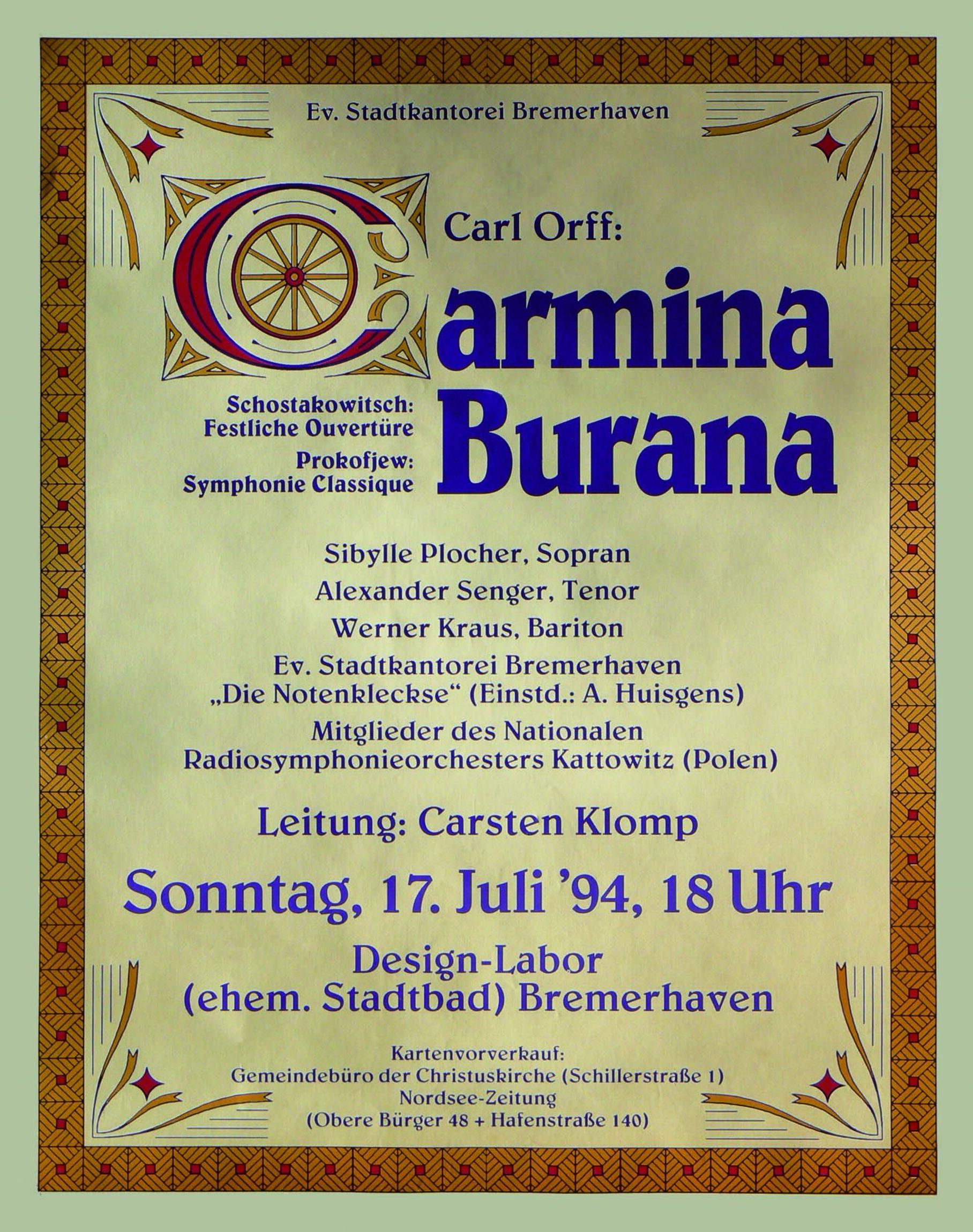 Plakat Carmina 1994