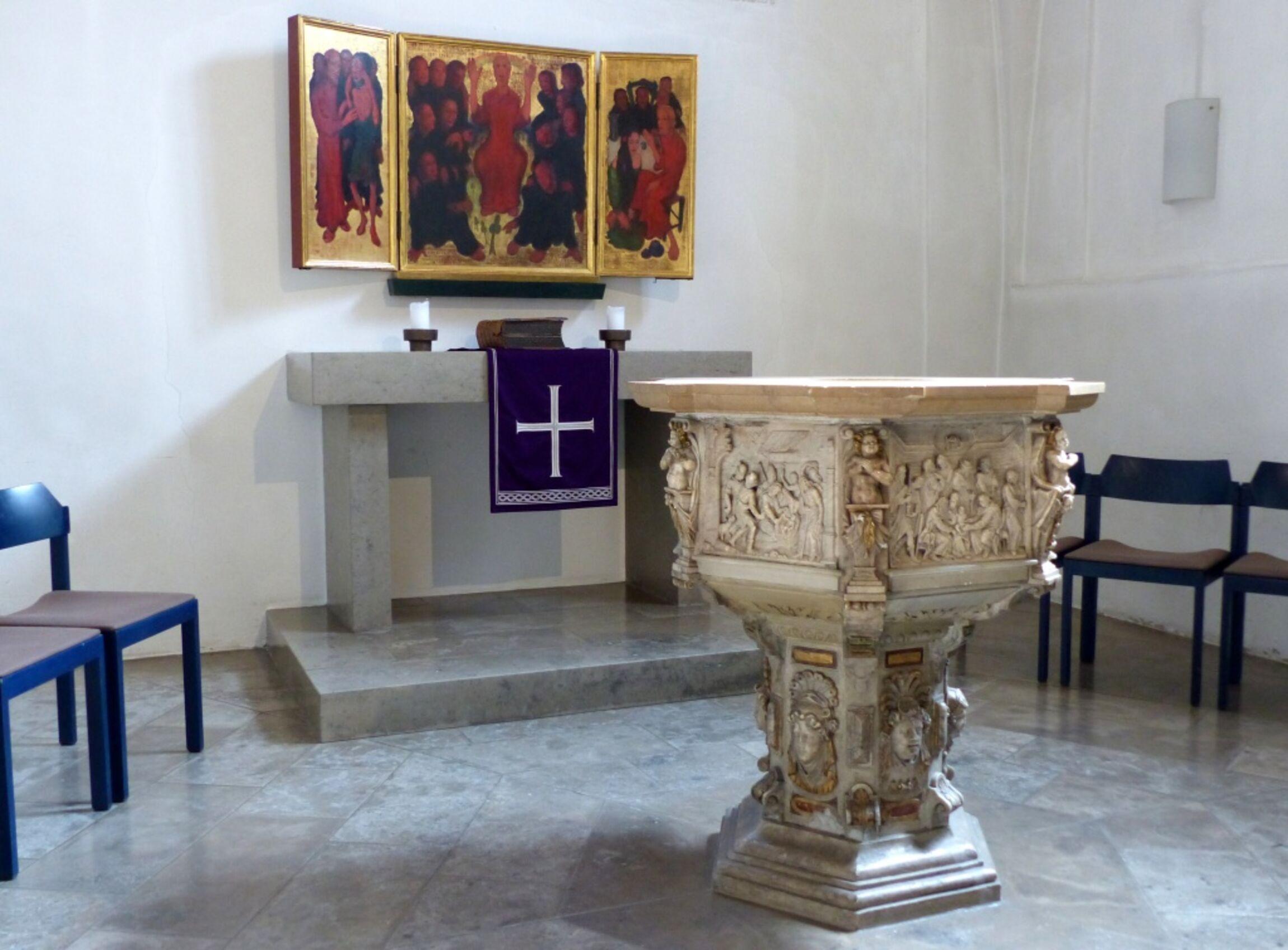 Taufe von 1611 mit Bergpredigeraltar