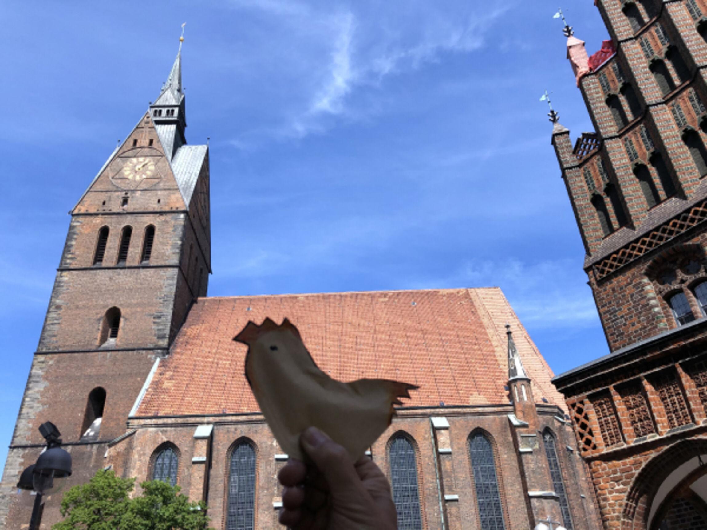 Marktkirche Hannover mit Huhn