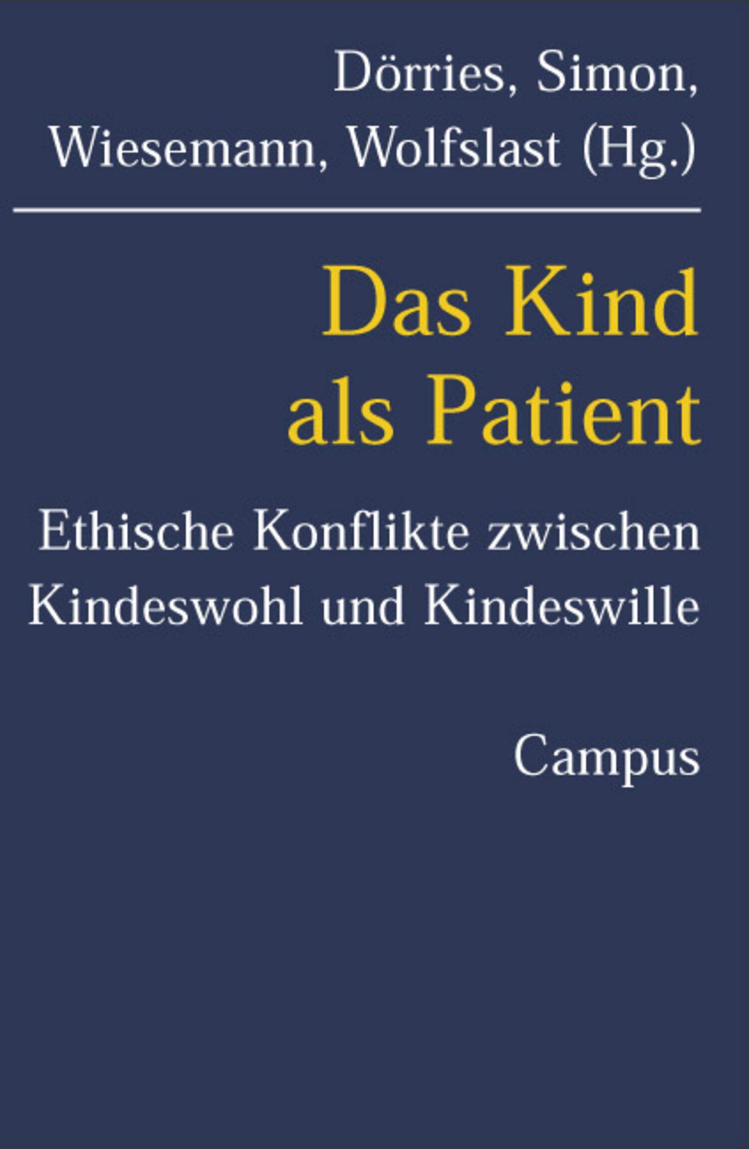Das Kind als Patient Buchcover