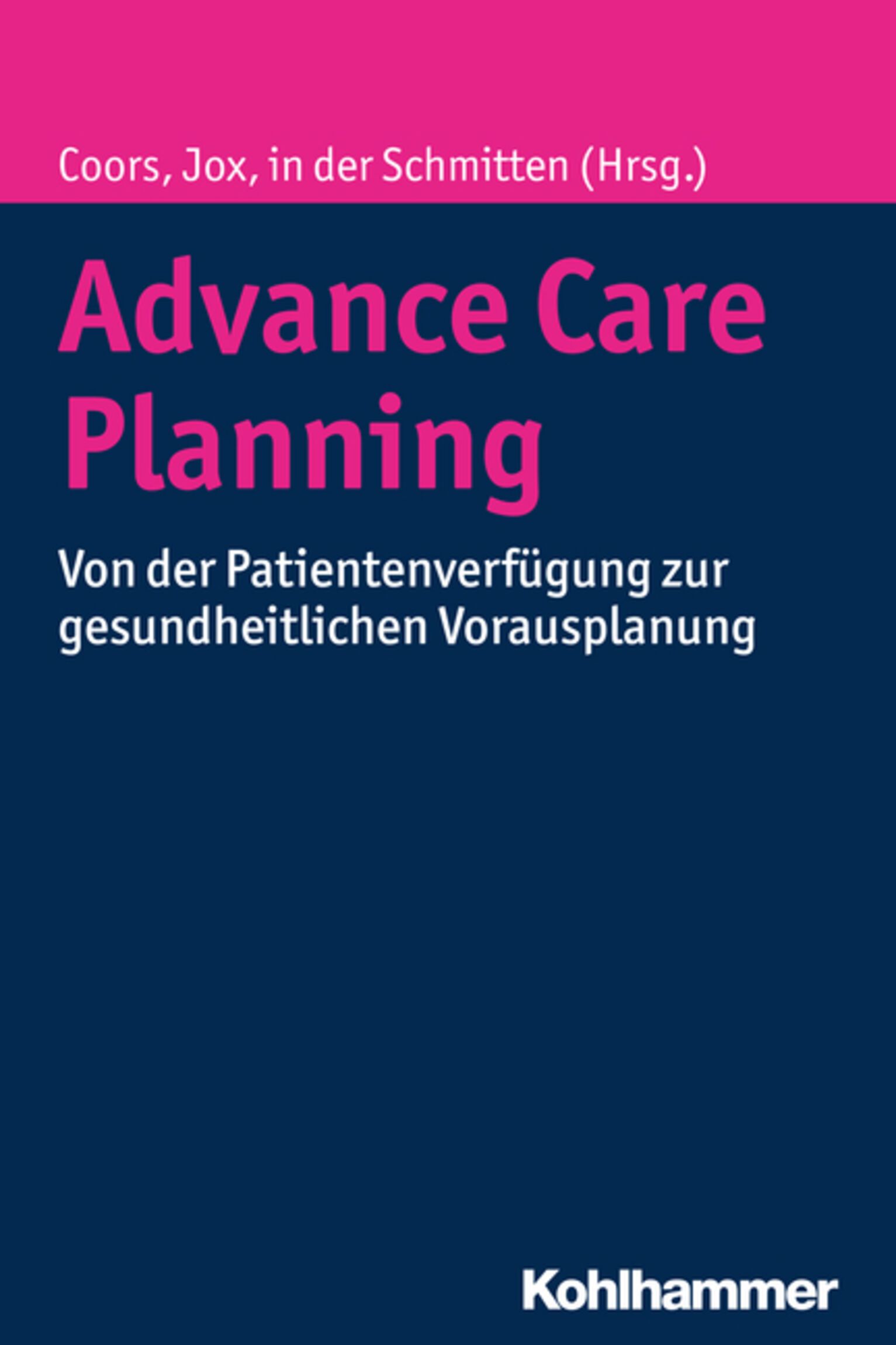 Advance Care Planning Buchcover
