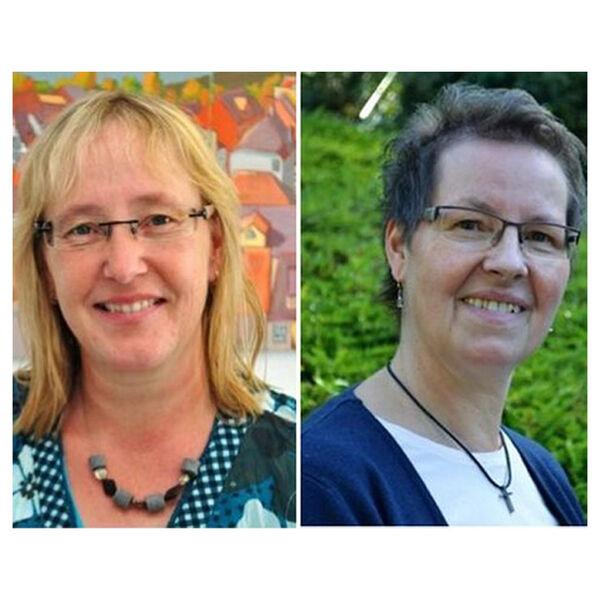 Pfarrsekretärinnen Carola Bartsch und Sabine Heinze