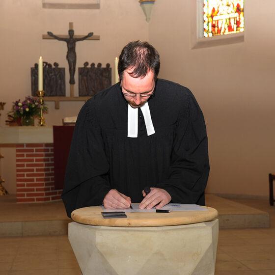 Unterschrift Pastor Maennl