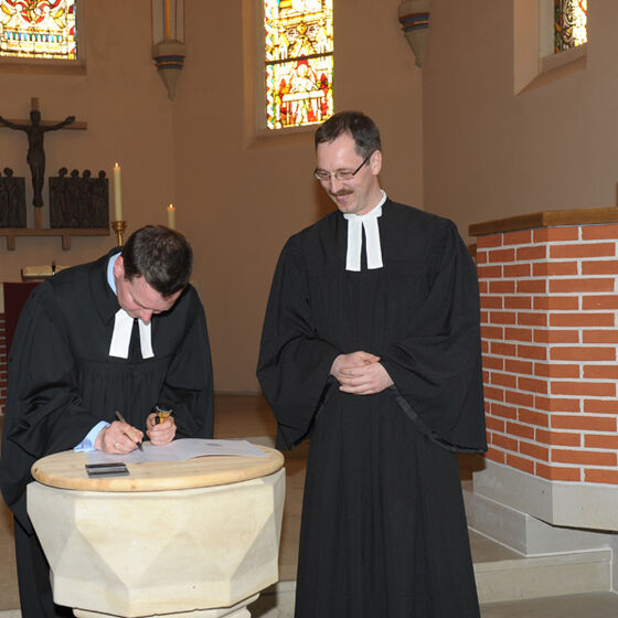 Unterschrift Pastor Ley