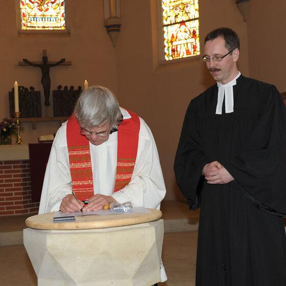 Unterschrift Pfarrer Weusthof