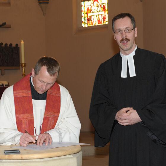 Unterschrift Pfarrer Pöttering