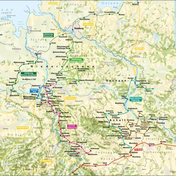 Pilgerwegkarte