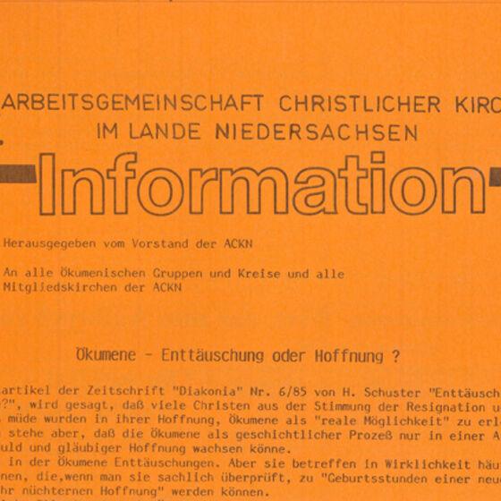 Informationsblatt 1985