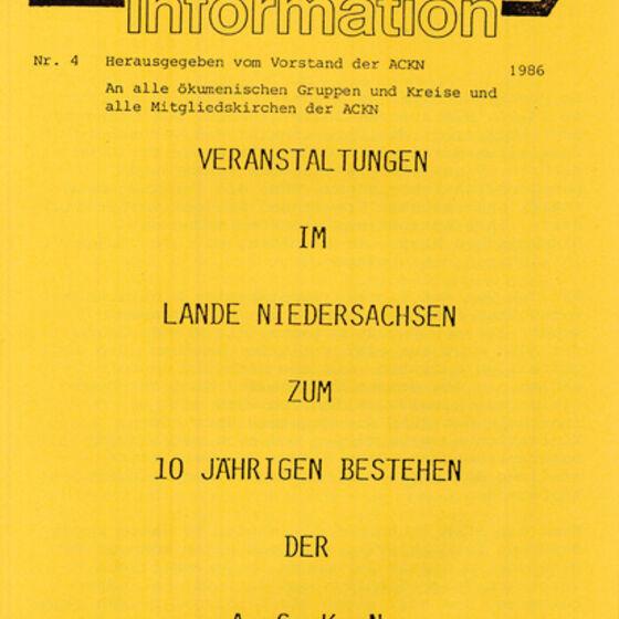 Informationsblatt 1986