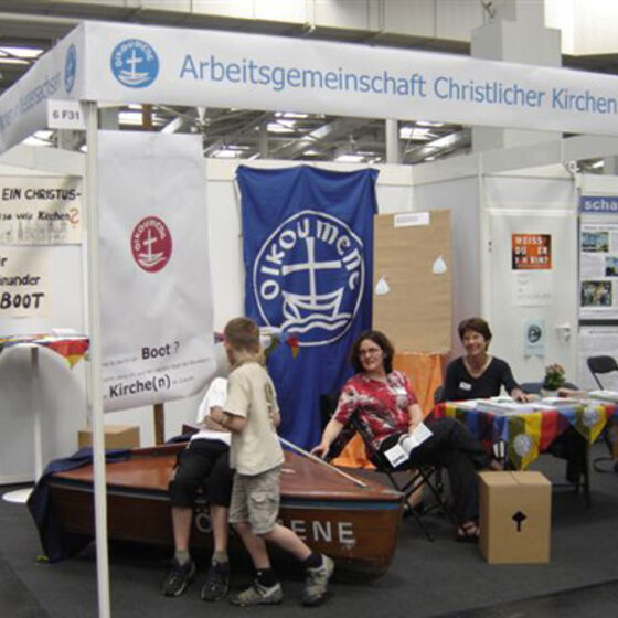 Stand Kirchentag Hannover 2005