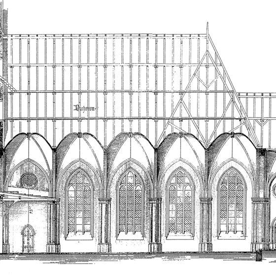 Bauzeichnung-Seitenschiff