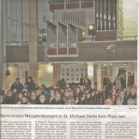 Neujahrskonzert, Leine-Zeitung 5.1.2015