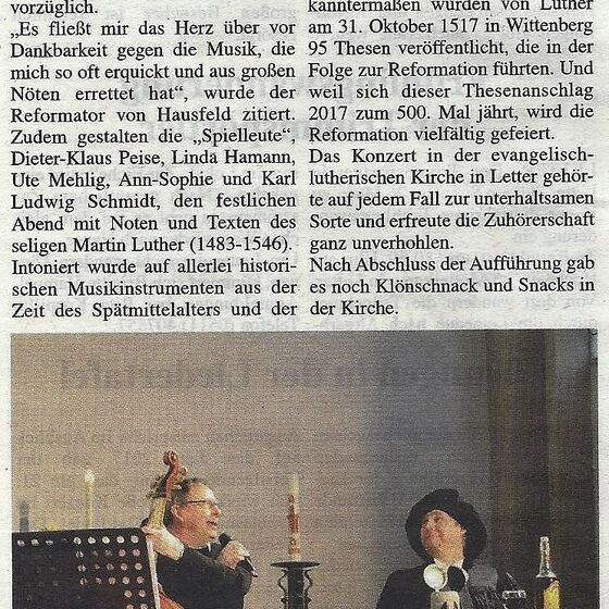 Umschau Seelze 01.03.2017