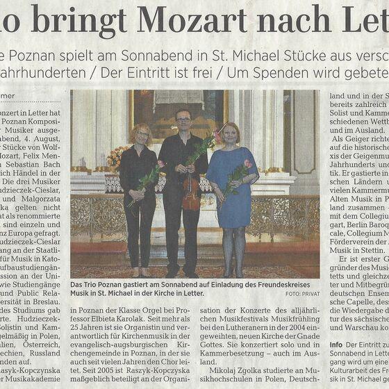Leine-Zeitung Seelze 01.08.2018