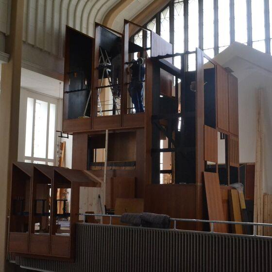 Aufbau des Hauptwerkgehäuses (5. Mai 2014)