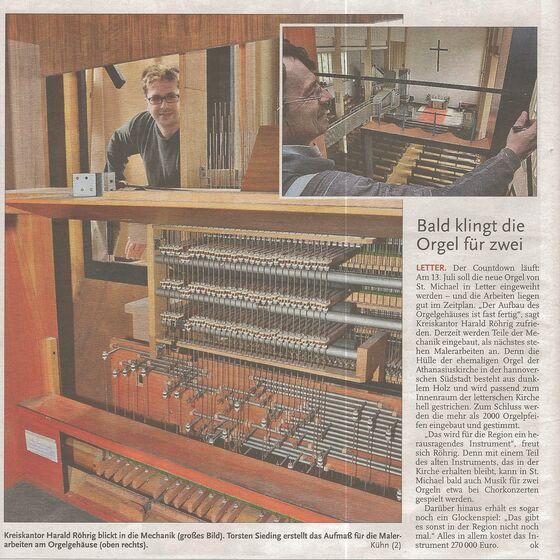 Leine-Zeitung Seelze vom 10. Mai 2014