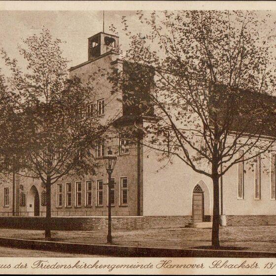 Hannover - Schackstr 13 15 Gemeindehaus der Friedenskirchengemeinde - 1935 04 12 - V - Kopie