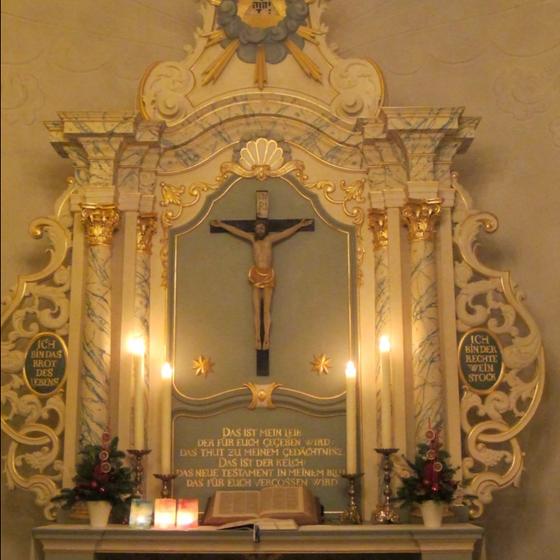 Altar im Advent