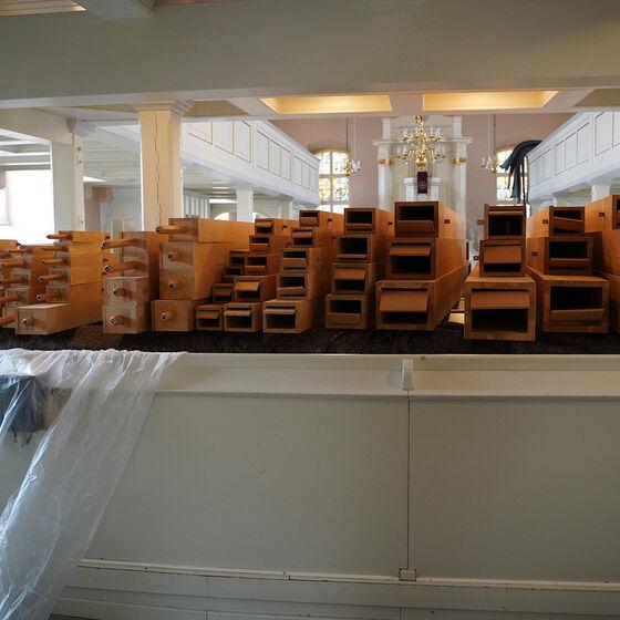 immer mehr gereinigte Holzpfeifen