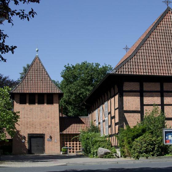 Blick auf die Bonifatiuskirche