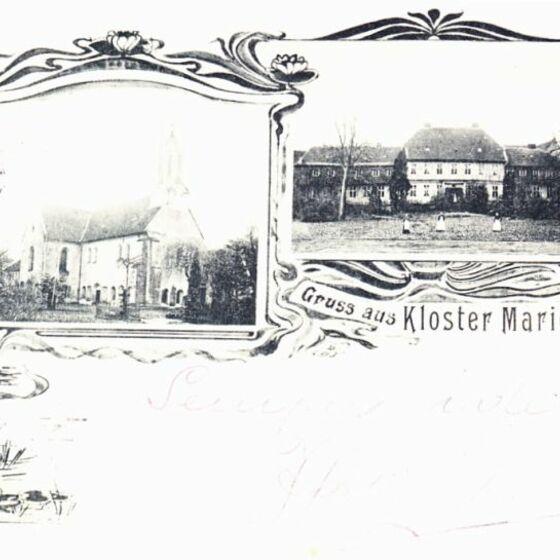 Kloster um 1910 - historische Ansichtskarte