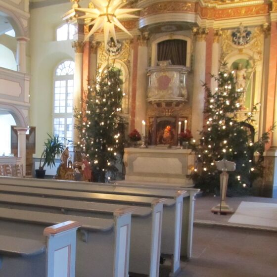 Altar zu Weihnachten
