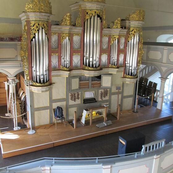 Orgel von oben