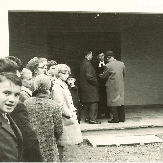 1964 Einweihung der Leichenhalle 7