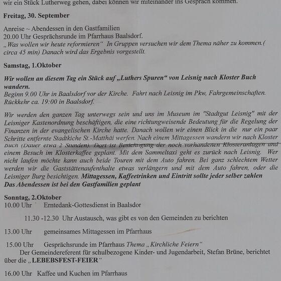 PROGRAMM  BAALSDORF-MÖLKAU