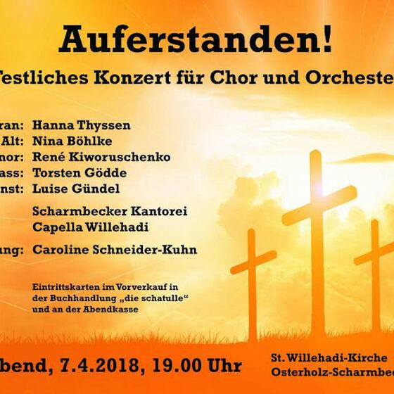 Das Plakat zum Konzert