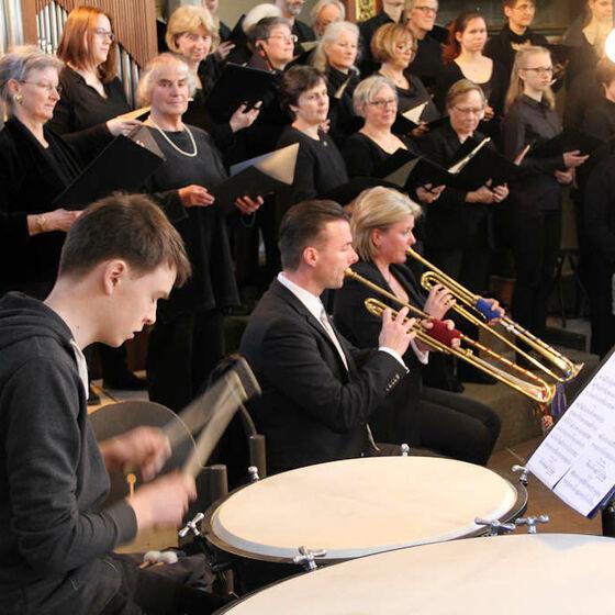Die Blechbläser des Orchesters Capella Willehadi