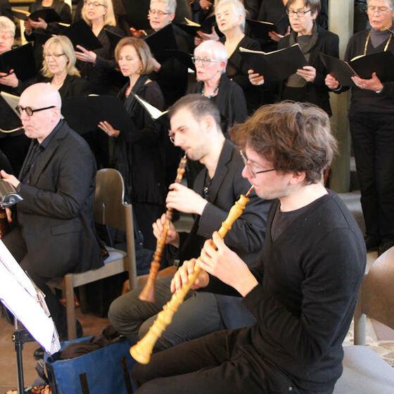 Die Holzbläser des Orchesters Capella Willehadi