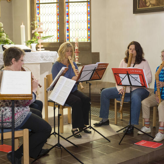 Konzert der Flötengruppe
