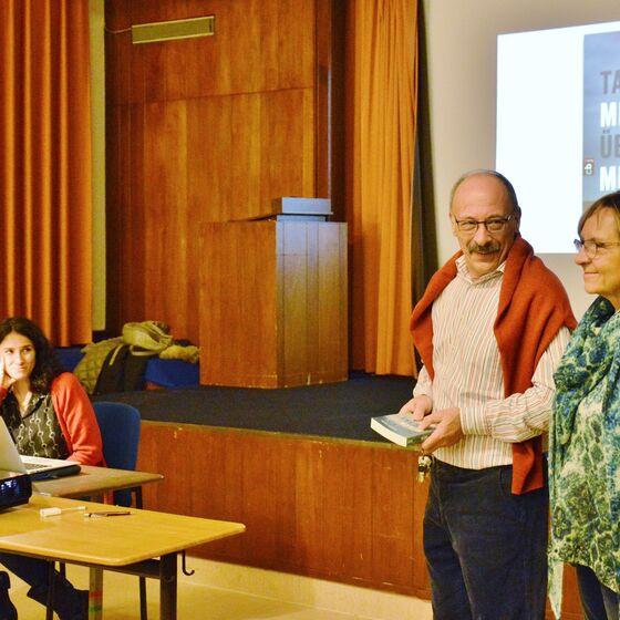 Helene Hofmann und Sido Kruse (rechts) freuten sich über den Besuch der Journalistin